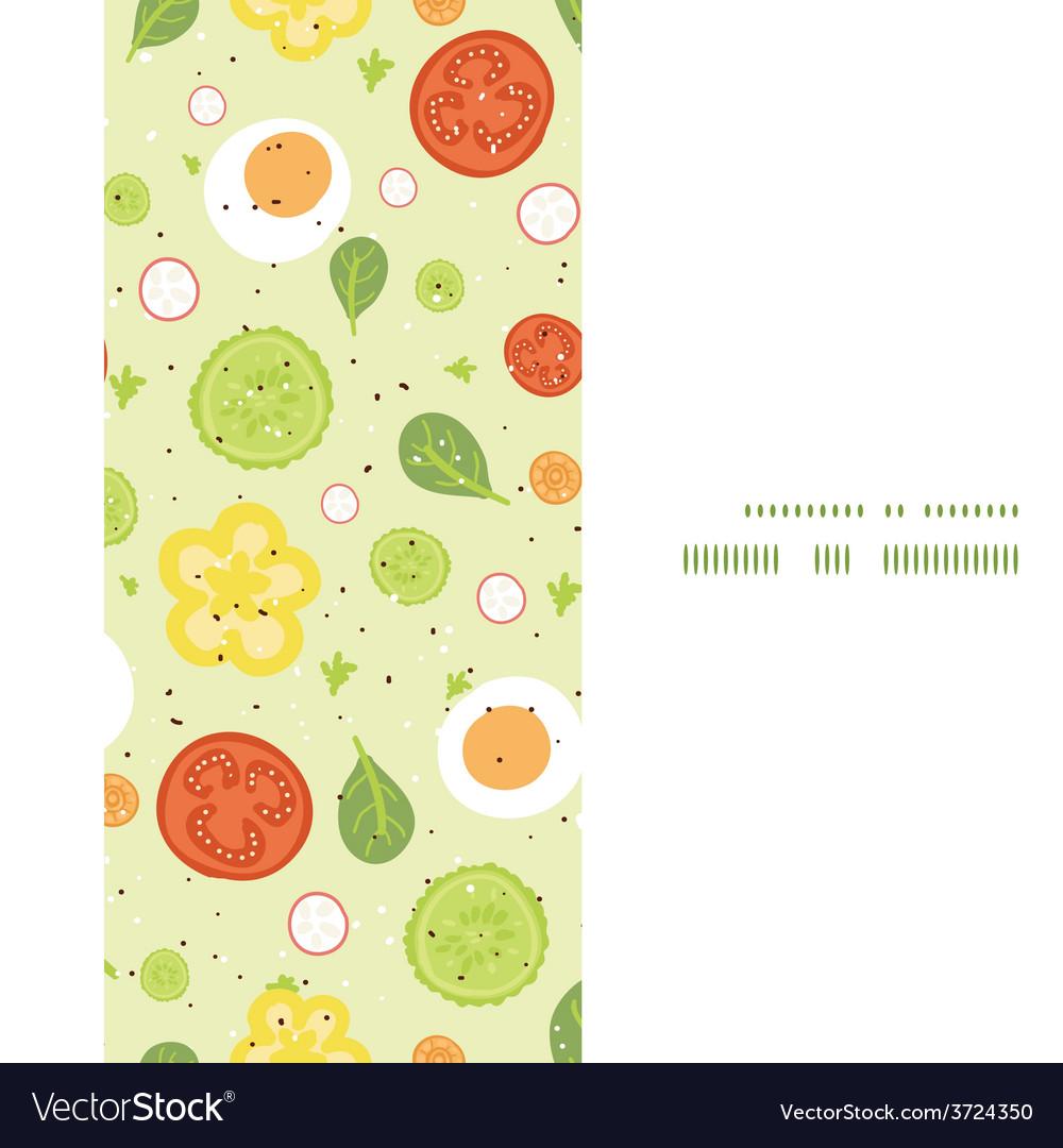 Fresh salad vertical frame seamless pattern