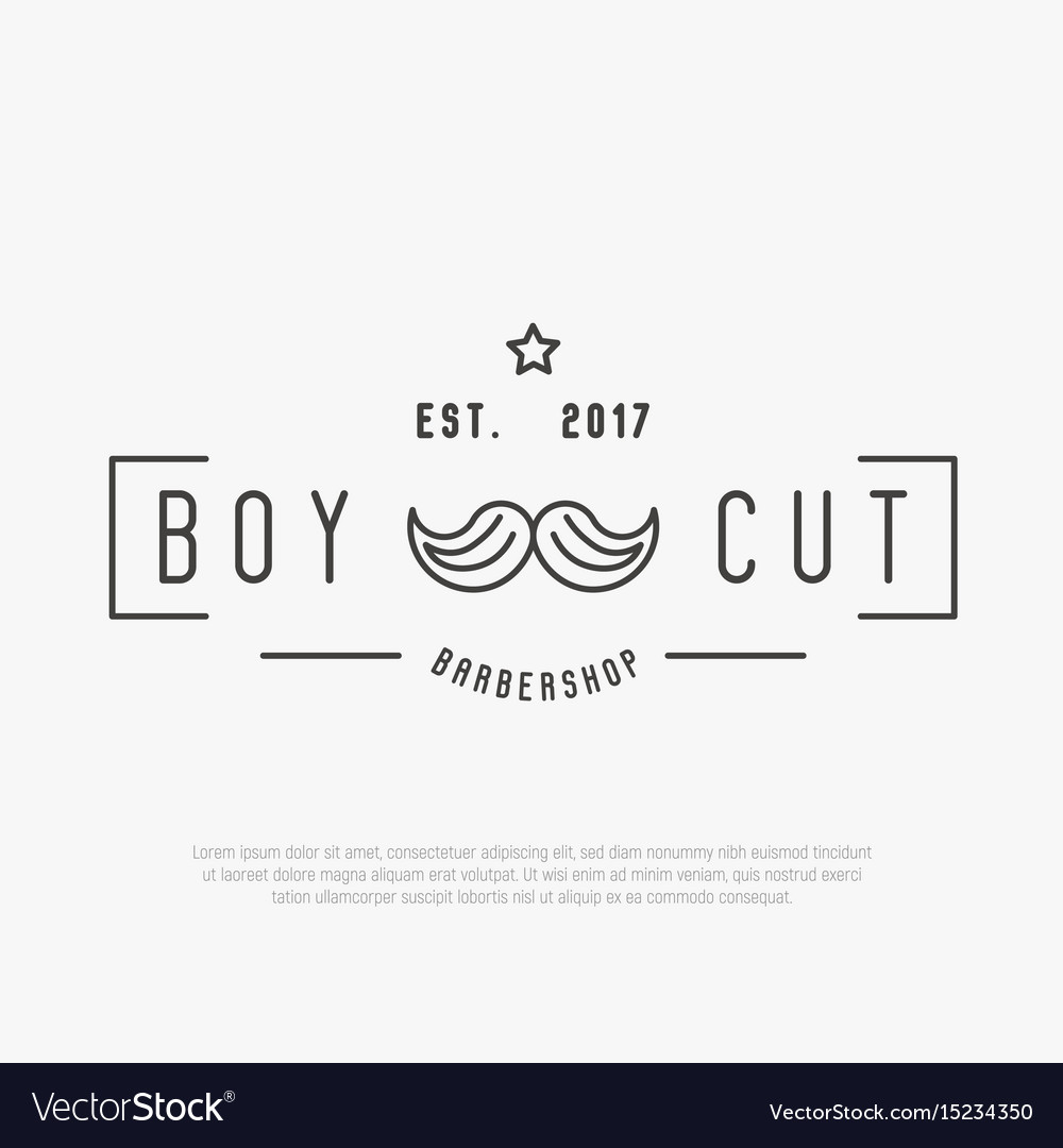 Hipster logo for barber shop with mustache