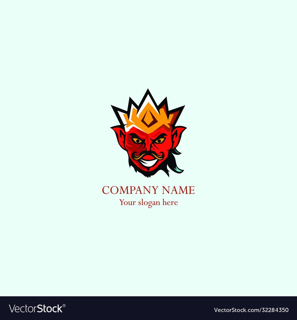 King man abstract logo