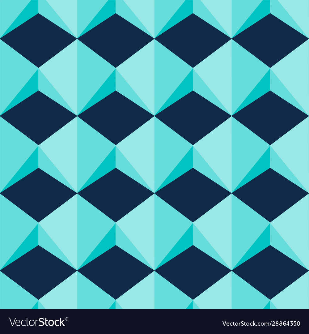 Light blue geometric jewel shapes seamless