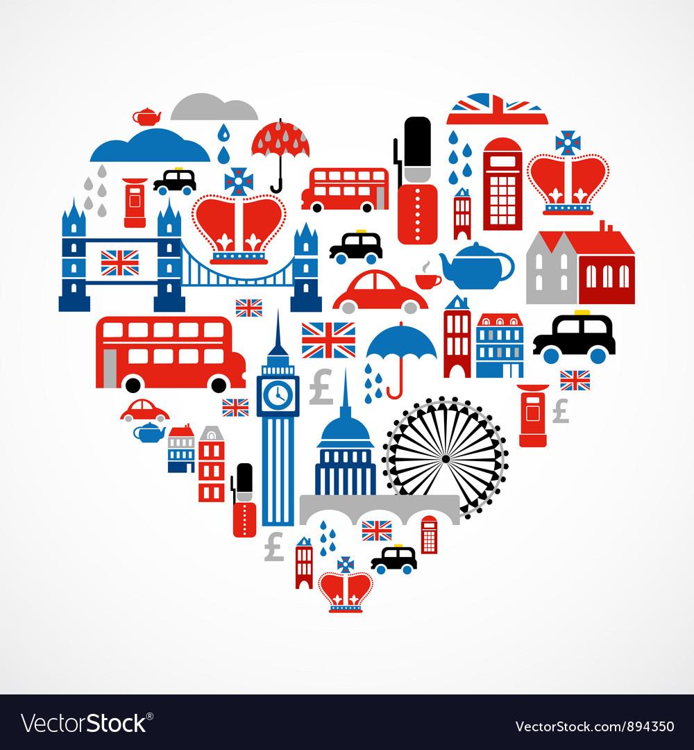 London love vector image