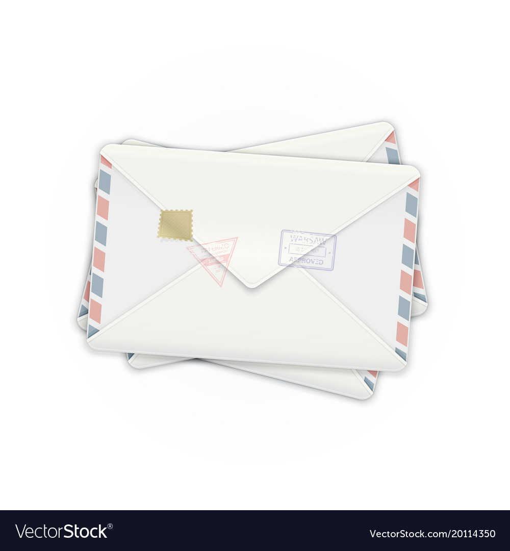 Mail envelopes vector image