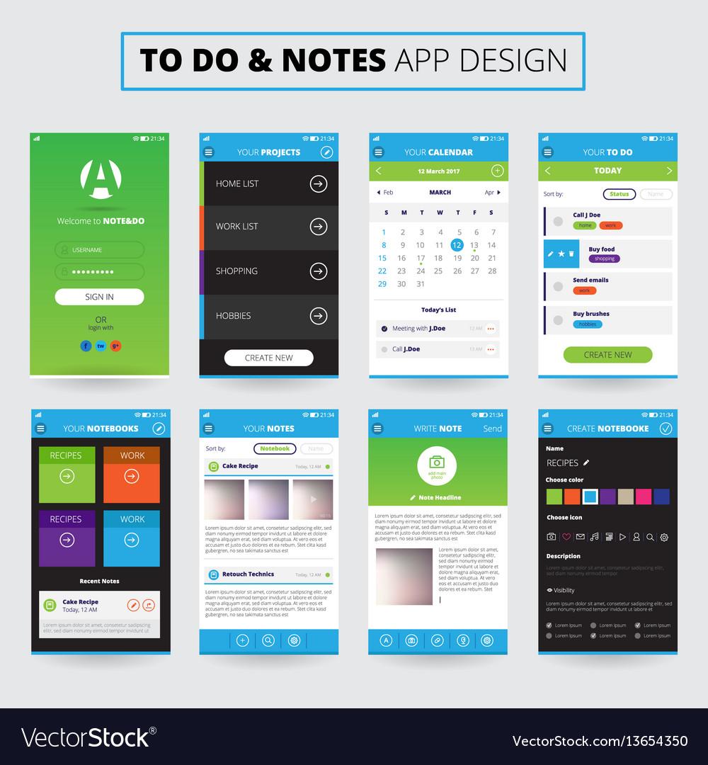 Notes mobile apps design