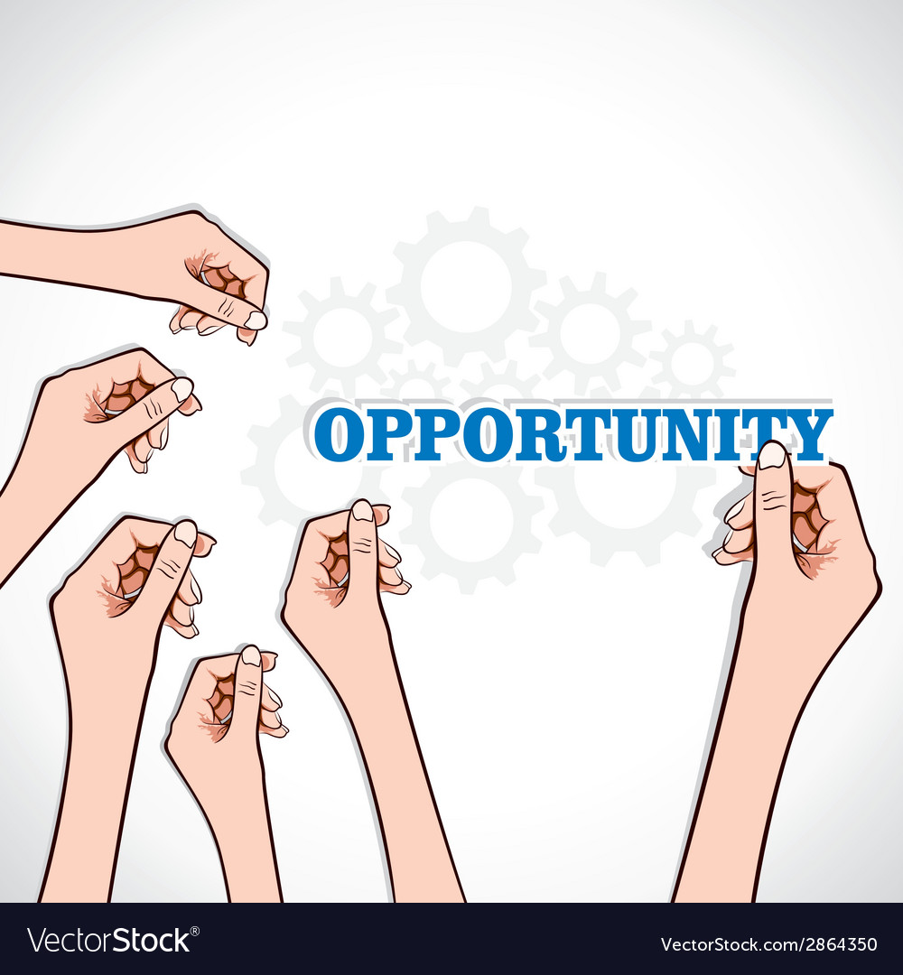 Opportunity word in hand