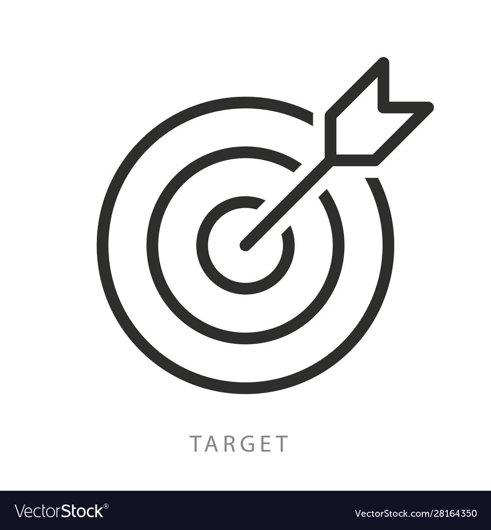 Target with arrow icon editable stroke