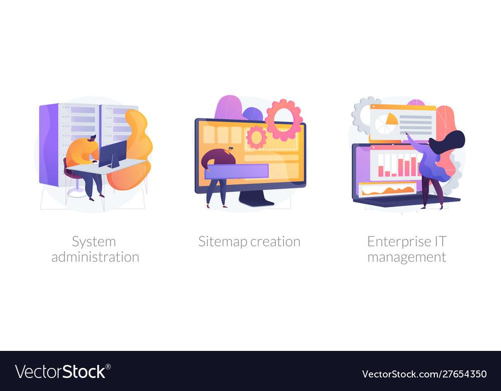 Web administration concept metaphors