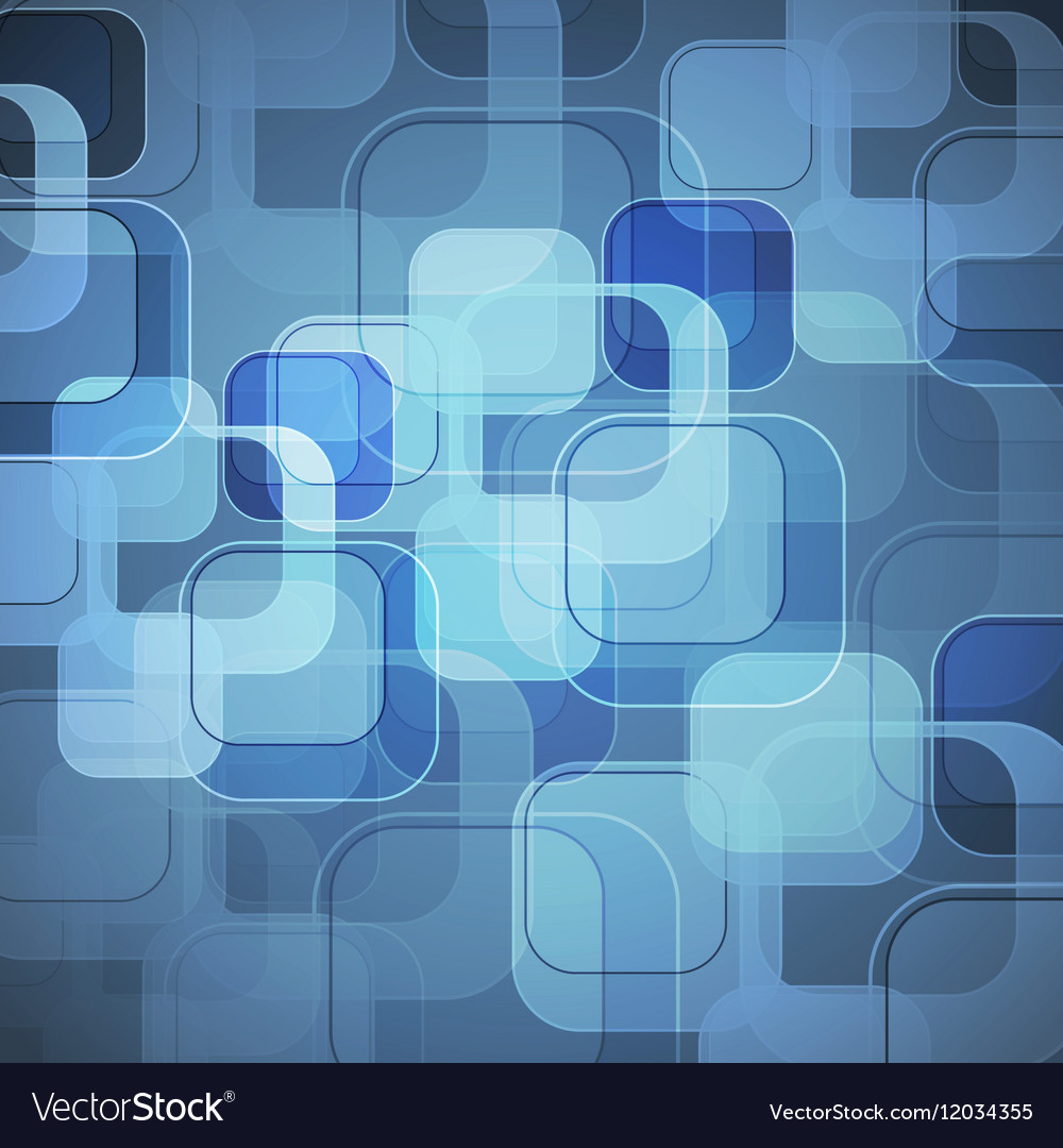 Abstract blue background with round rectangle