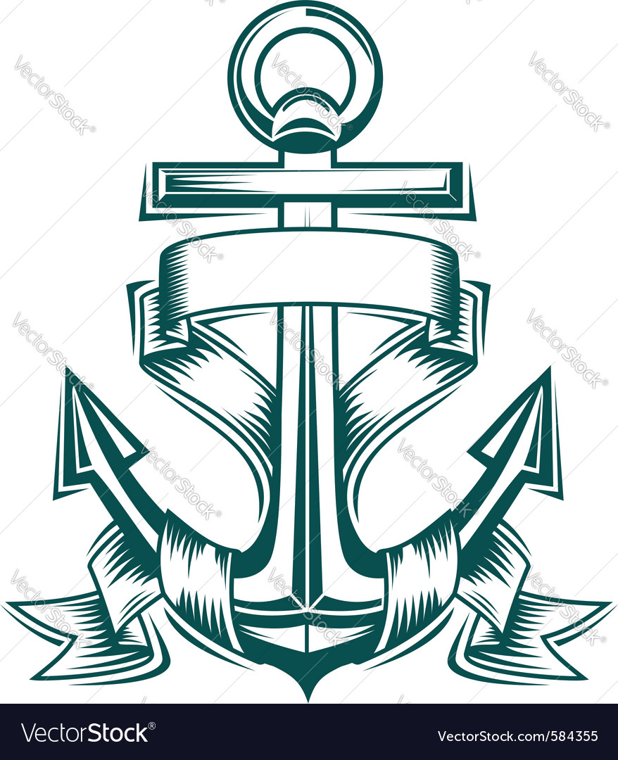 Anchor tattoo vector image