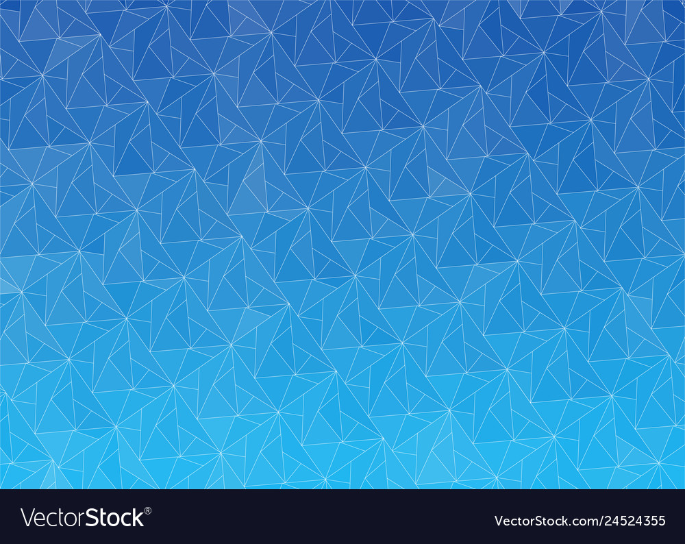 Blue abstract gradient background with triangles