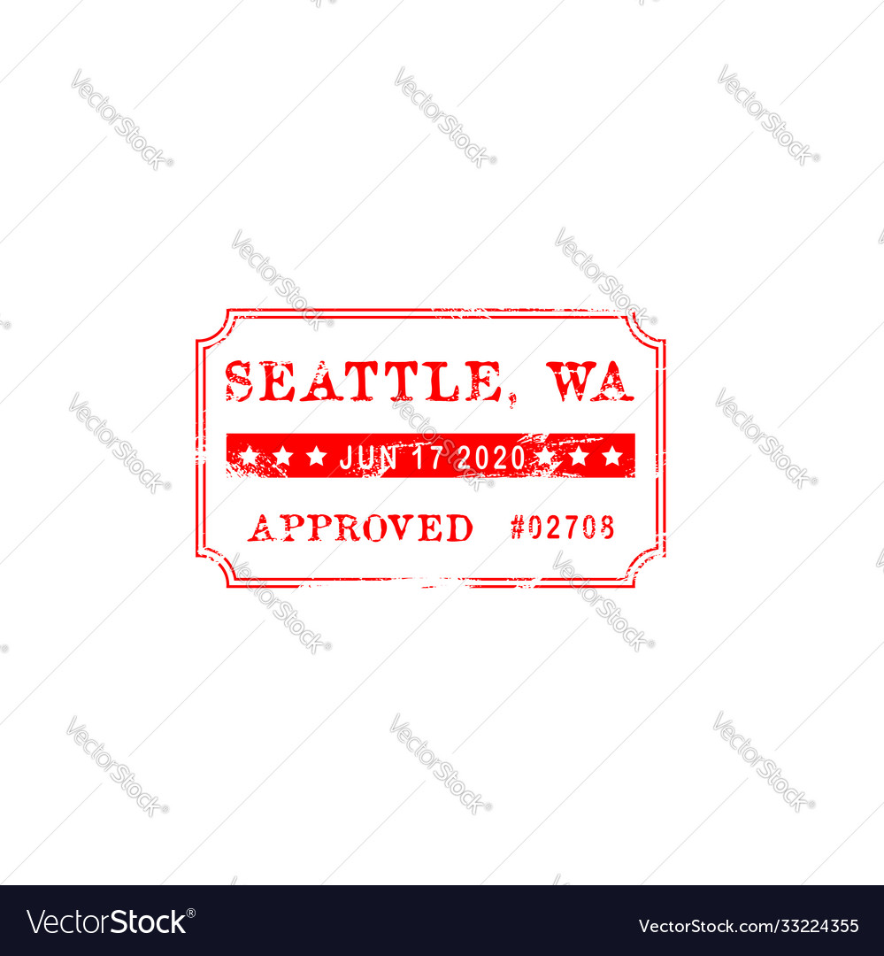Check quality seattle approved grunge seal