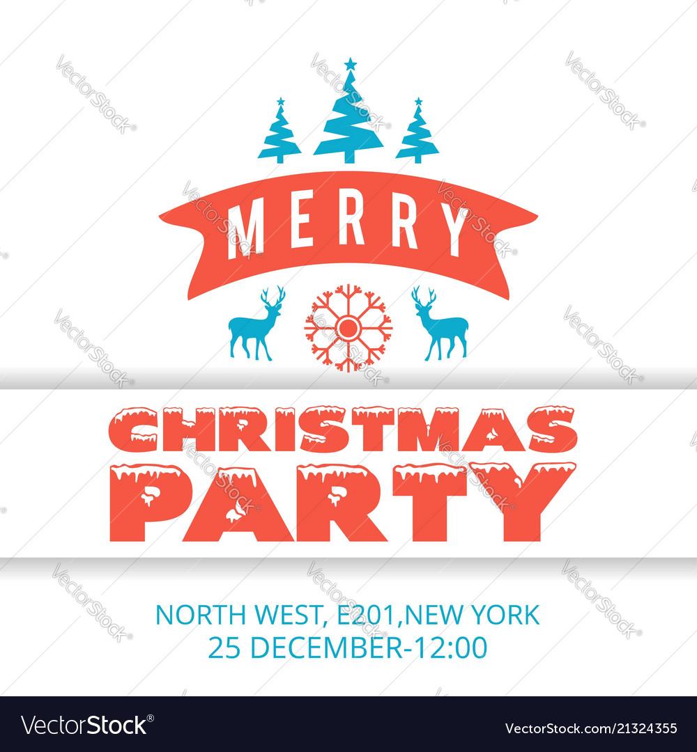Christmas party inviattion card vintage