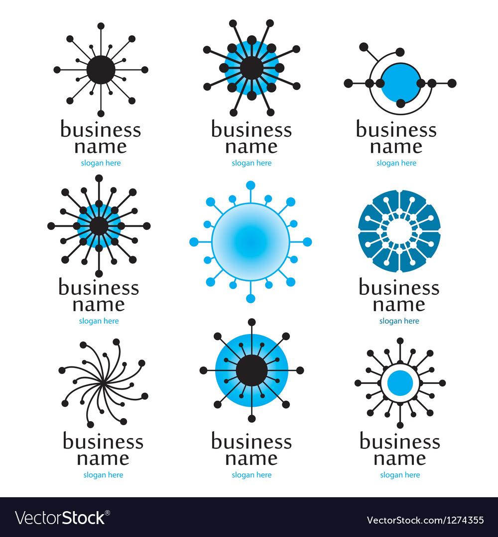 Digital technology logo vector image
