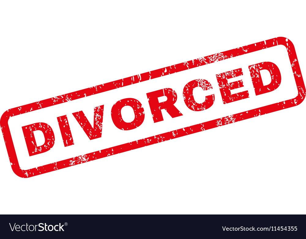 divorced rubber stamp royalty free vector image