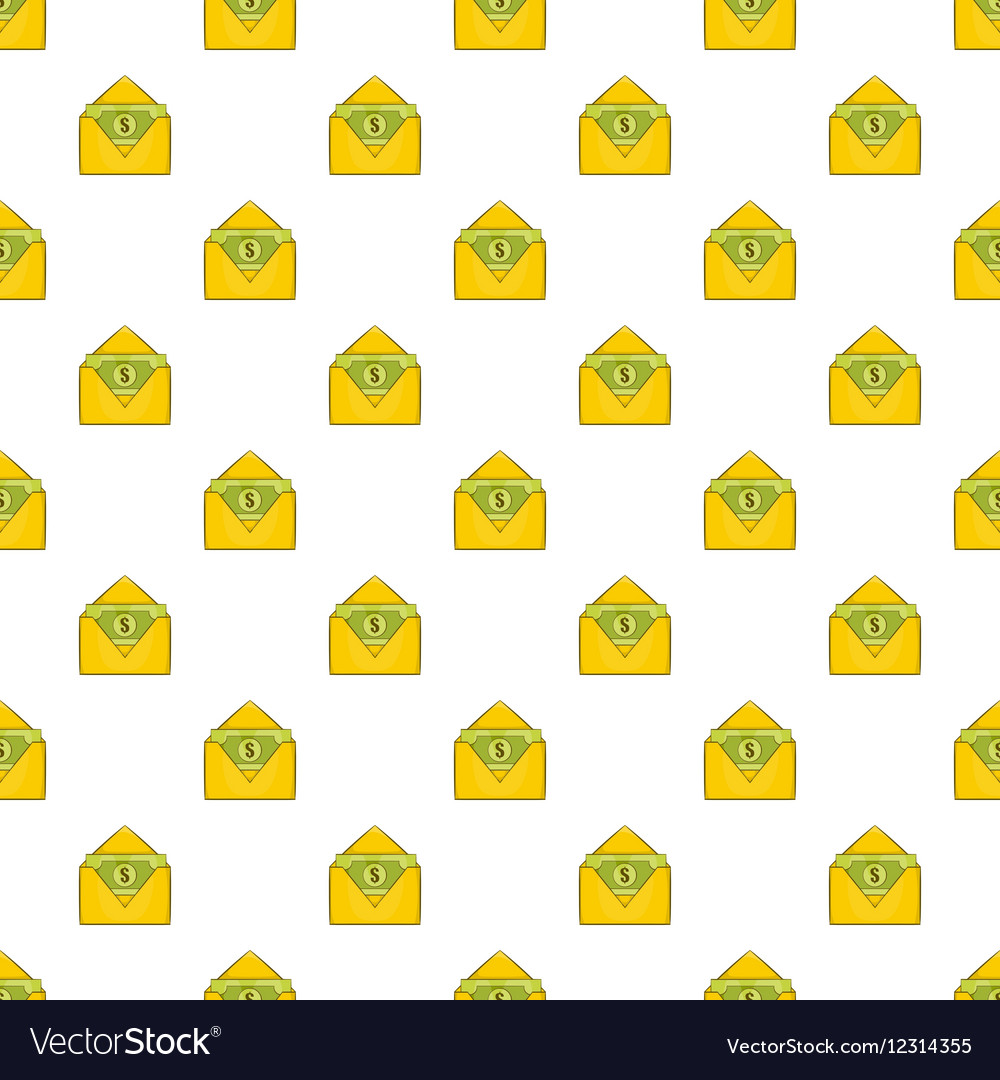 Envelope with money pattern cartoon style vector image