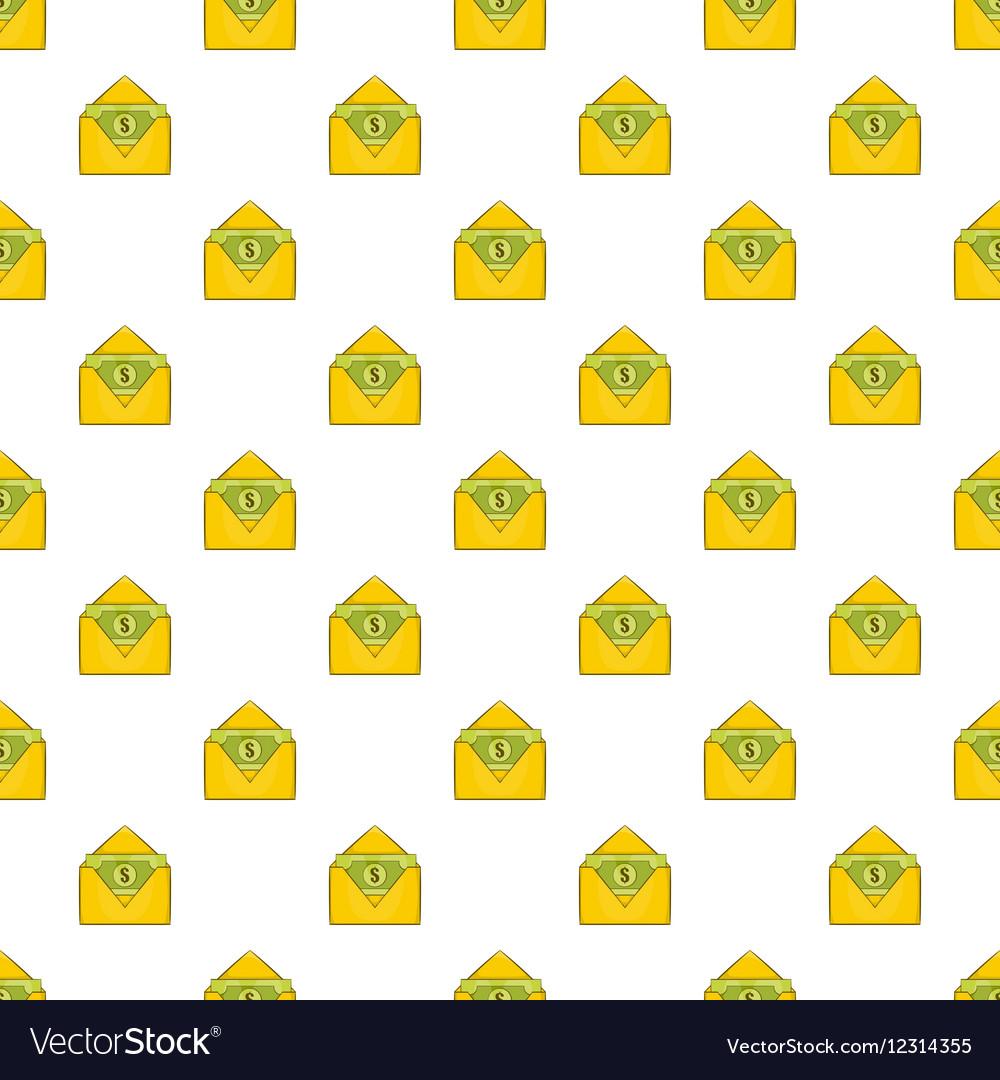Envelope with money pattern cartoon style