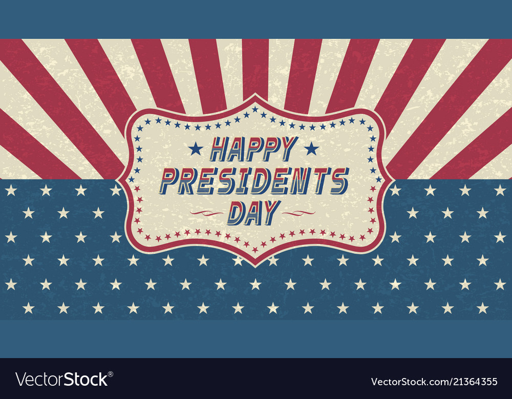 Grunge happy presidents day greeting cardretro