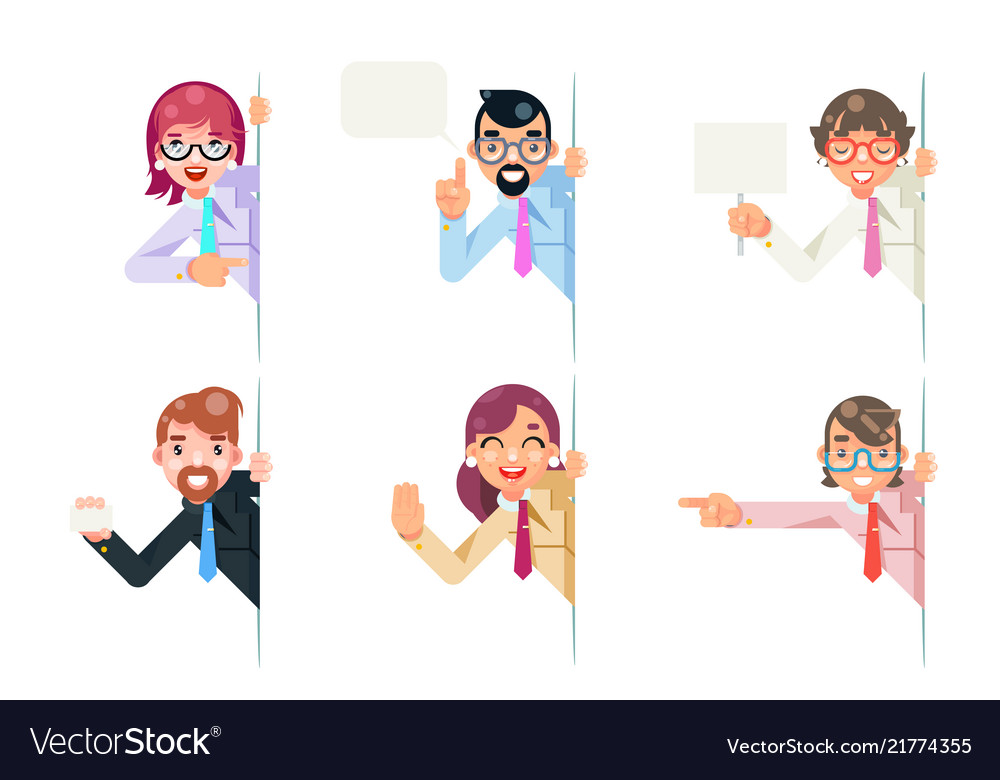 Isolated office workers cartoon support help