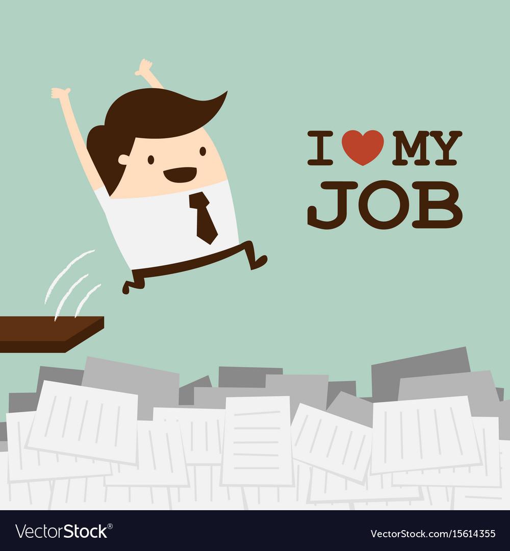 Love job vector image