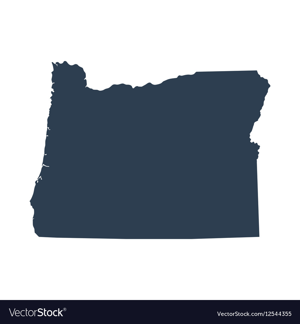 Map of the US state Oregon vector image