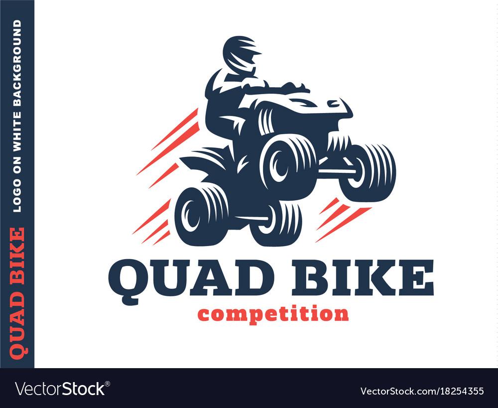 Quad bike competition logo design