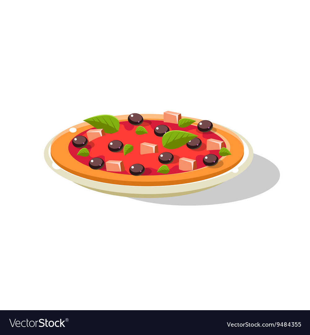 Traditional Italian Pizza vector image