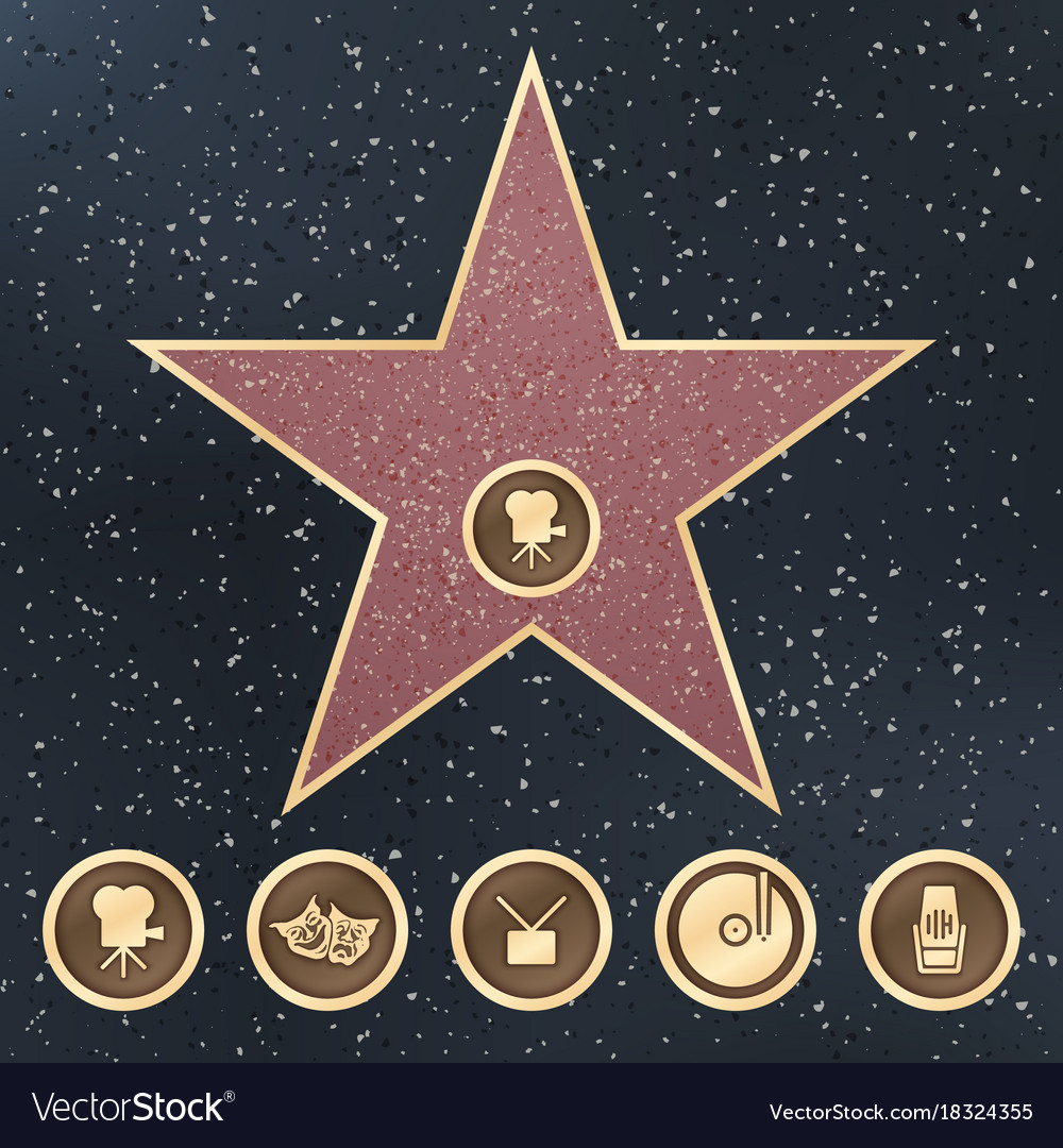 Hollywood Granite Star Vector Images 52