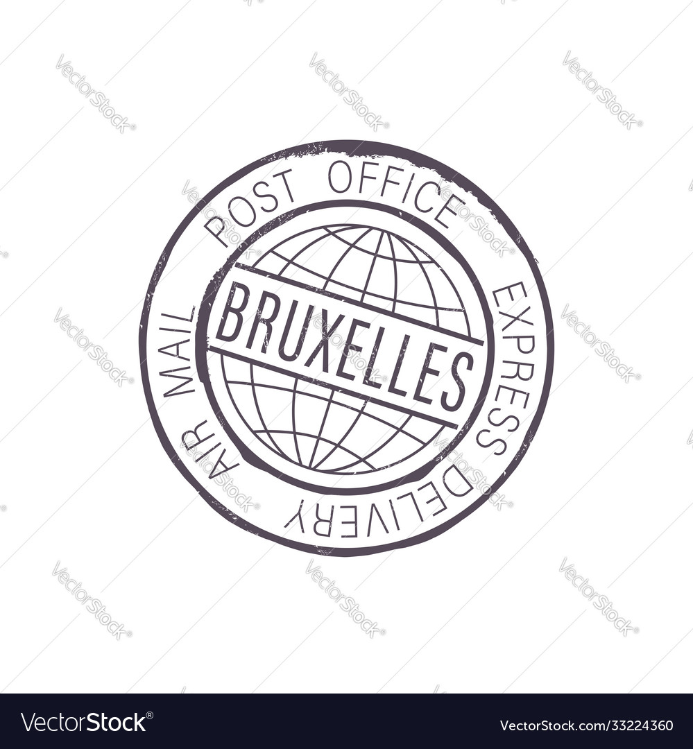 Bruxelles international postal global service icon