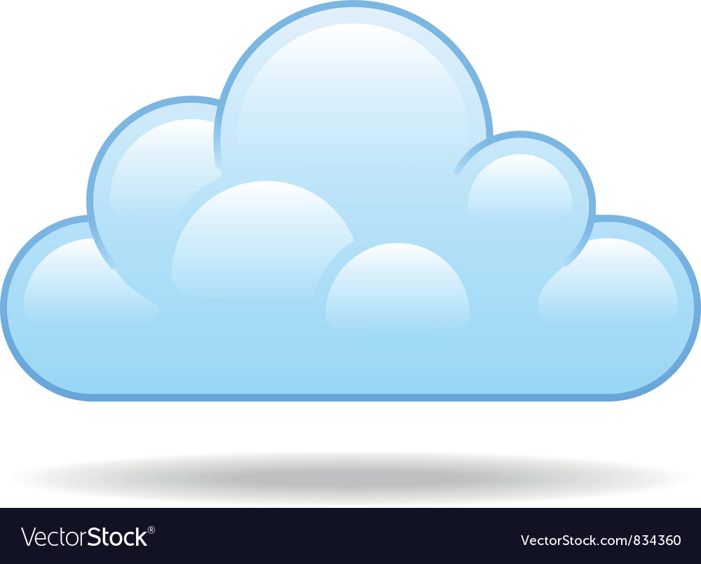 cloud royalty free vector image vectorstock rh vectorstock com cloud vectors illustrator cloud vector free