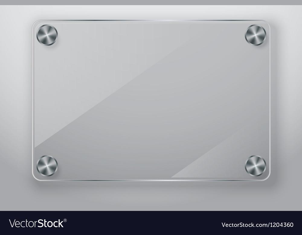 Glass frame with screws