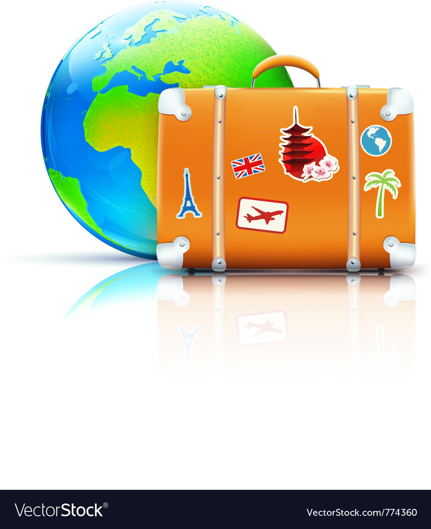 Global travel concept vector image