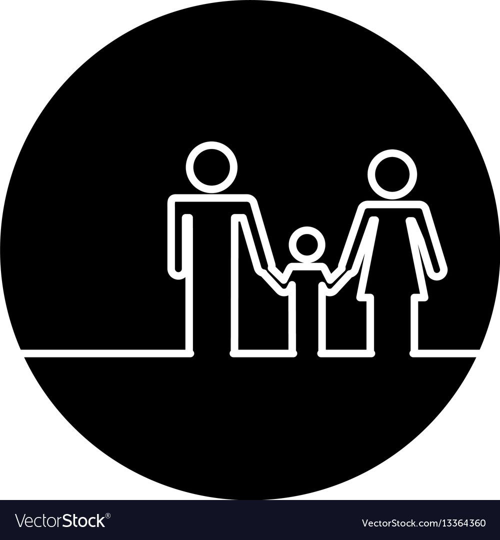 Healthcare family silhouette icon