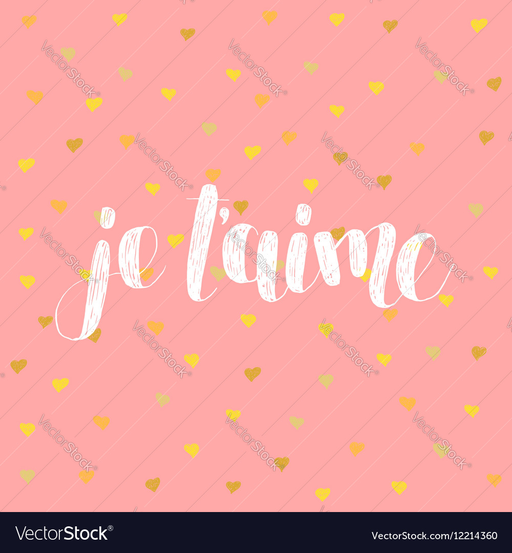 Je t aime Love you in French