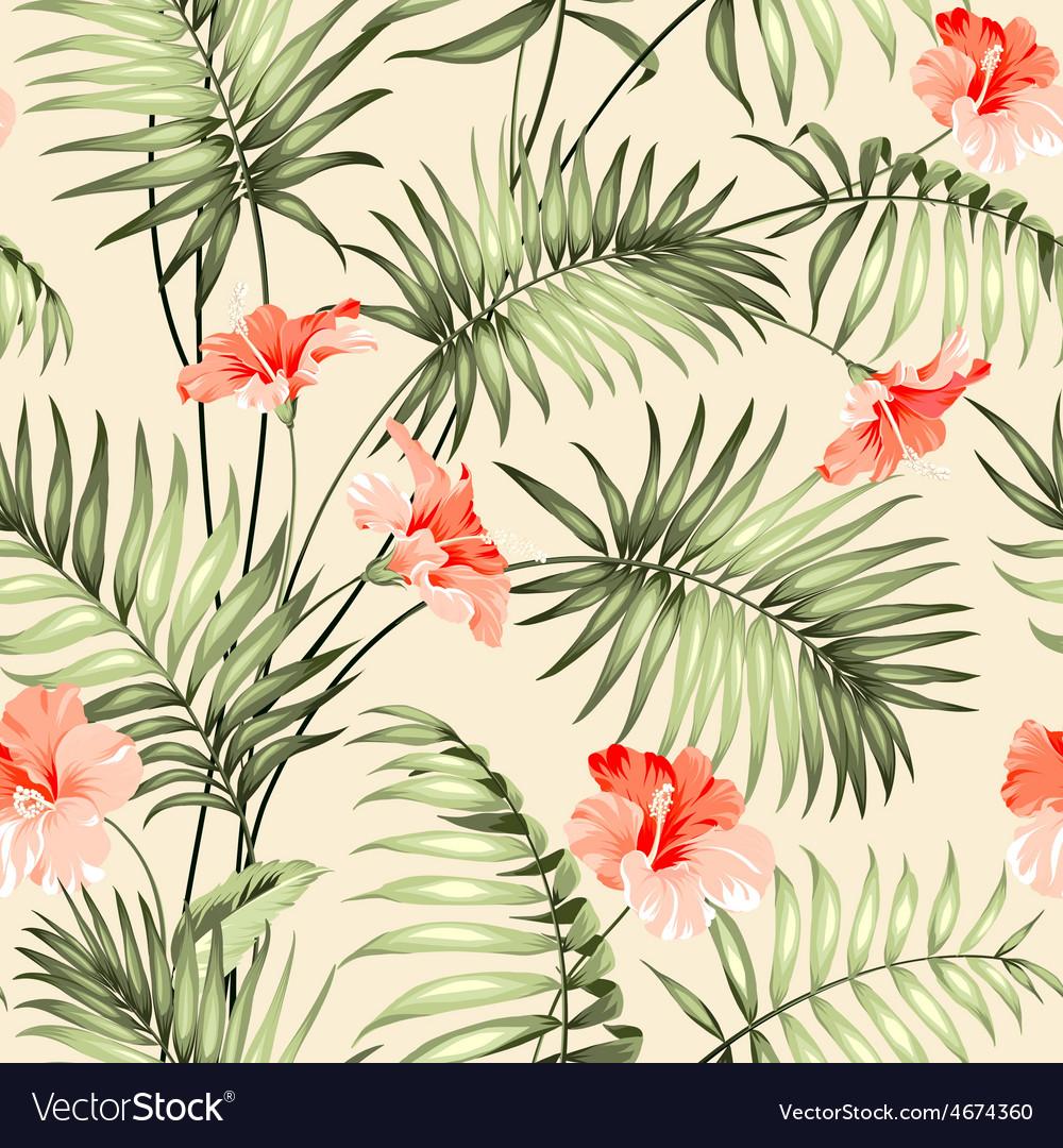 Seamless pattern a palm