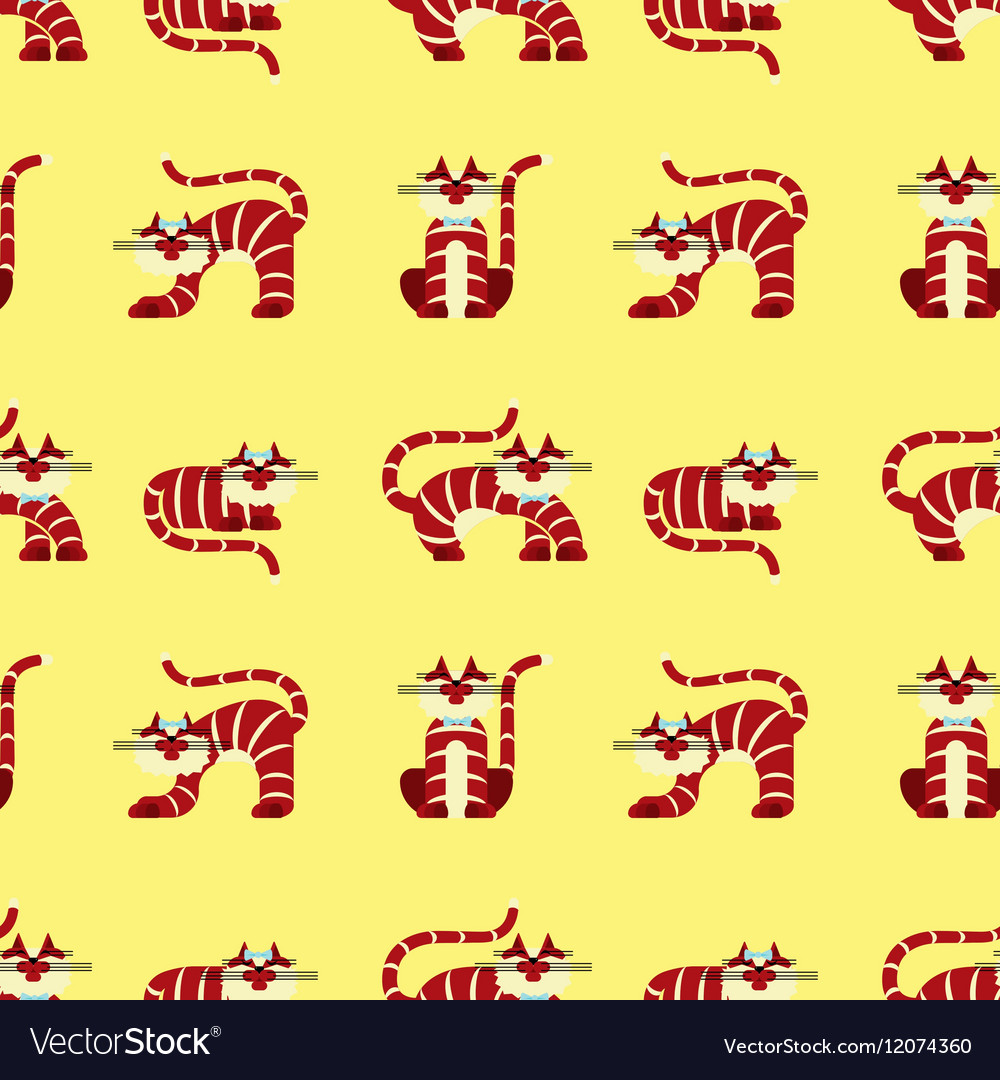 Seamless pattern character cats