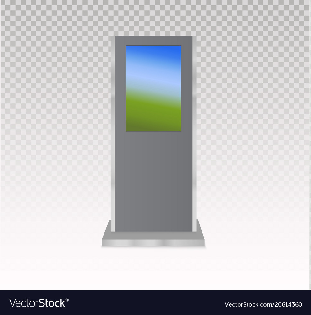 Set of information kiosks with blank screens