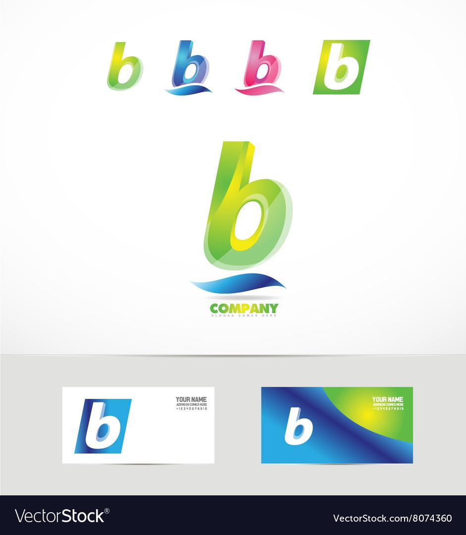 Small letter b icon logo