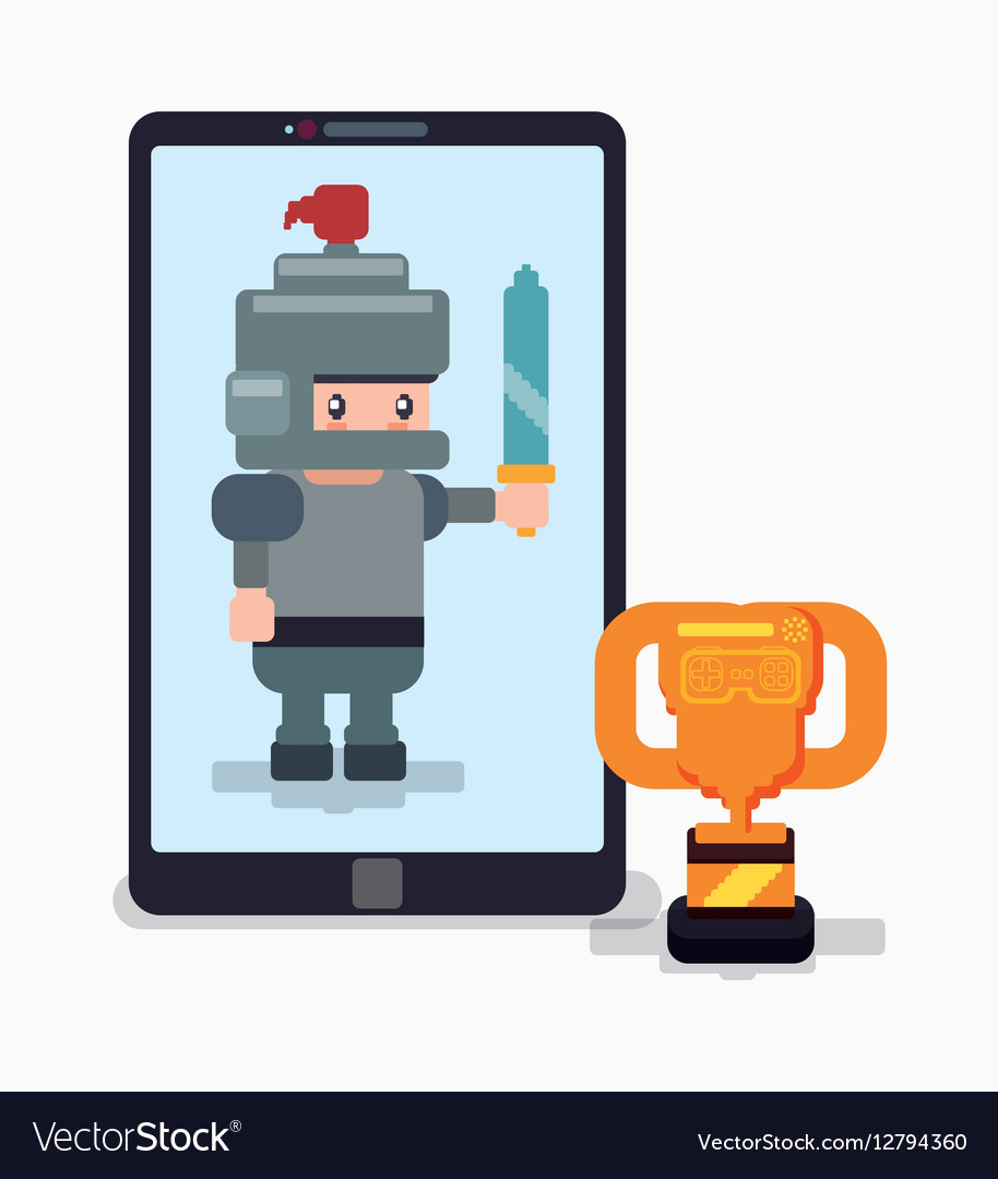 Smartphone knight trophy online game
