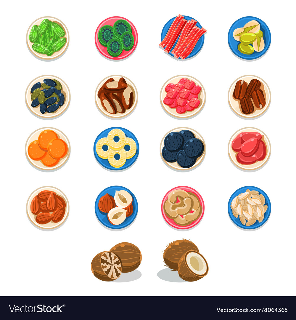 Breakfast Food Sample Plates Collection vector image