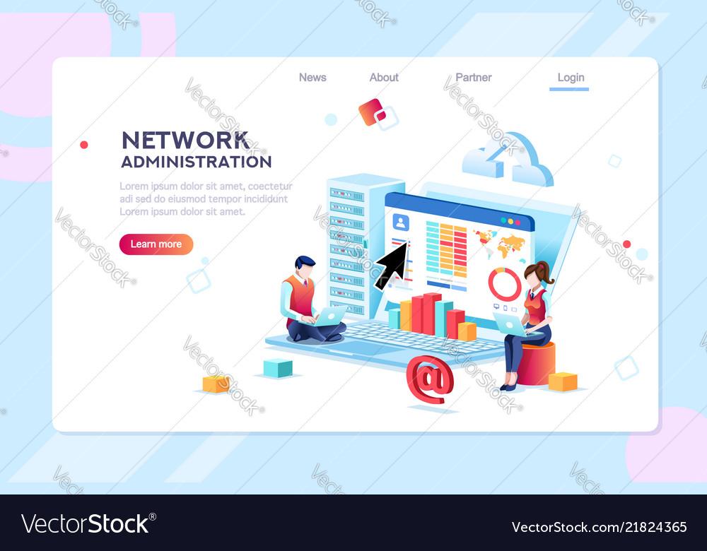 Data center administration concept