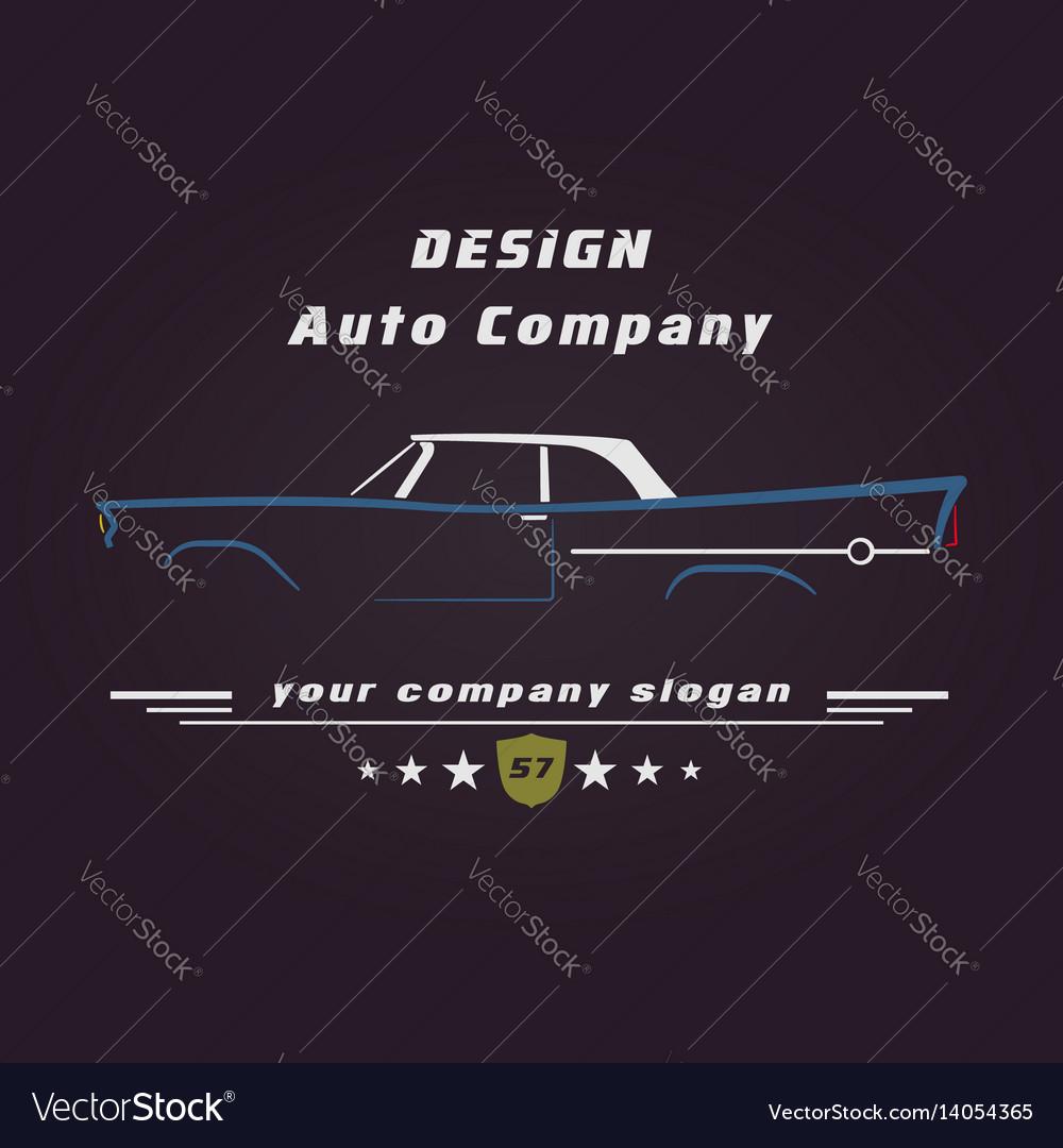 Design retro classic car service sign