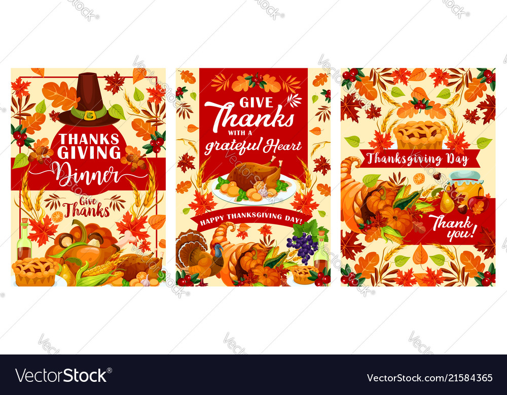Happy thanksgiving day posters
