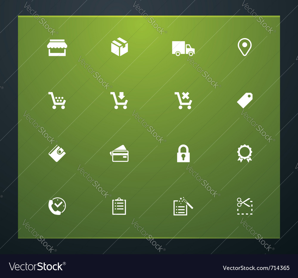 Shopping related pictograms vector image