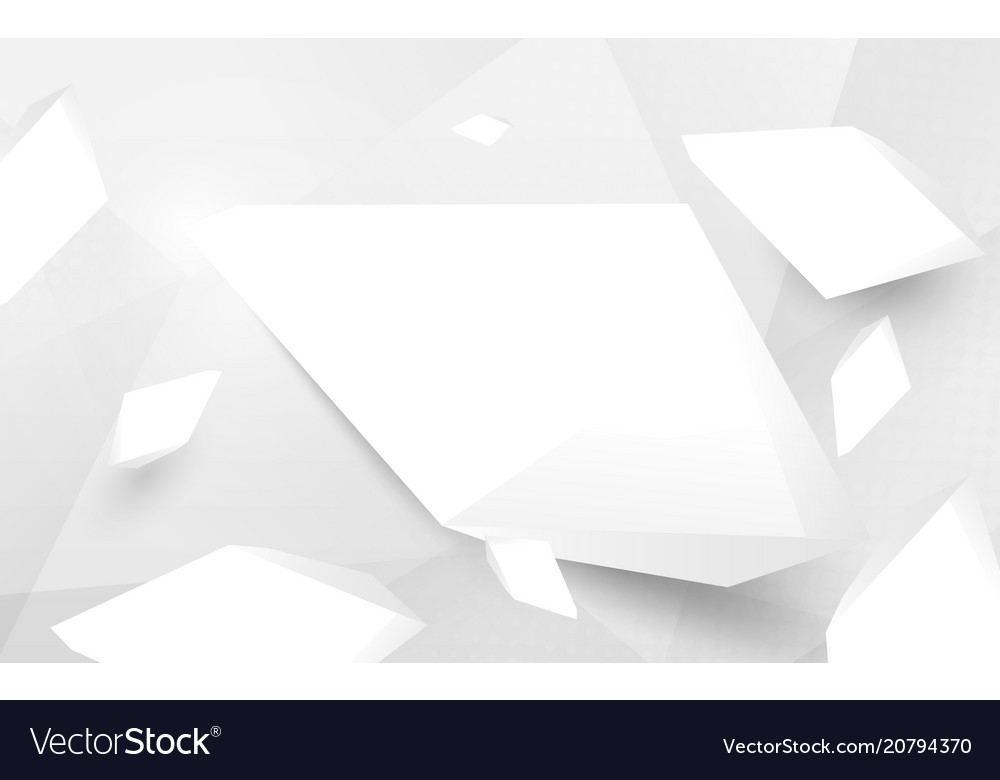 Abstract white 3d crystal broken and haft tone