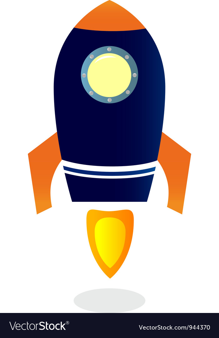 Cartoon Rocket ship vector image