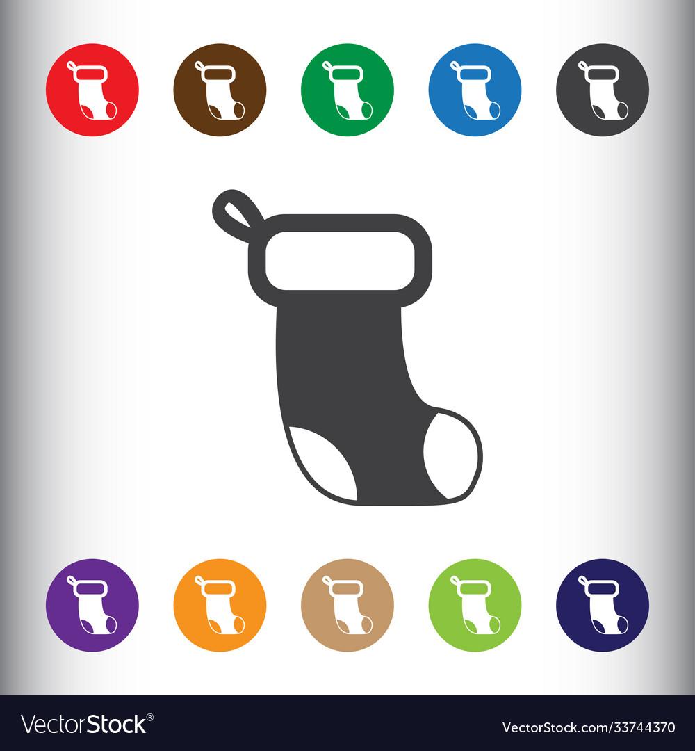 Christmas socks icon sign icon socks