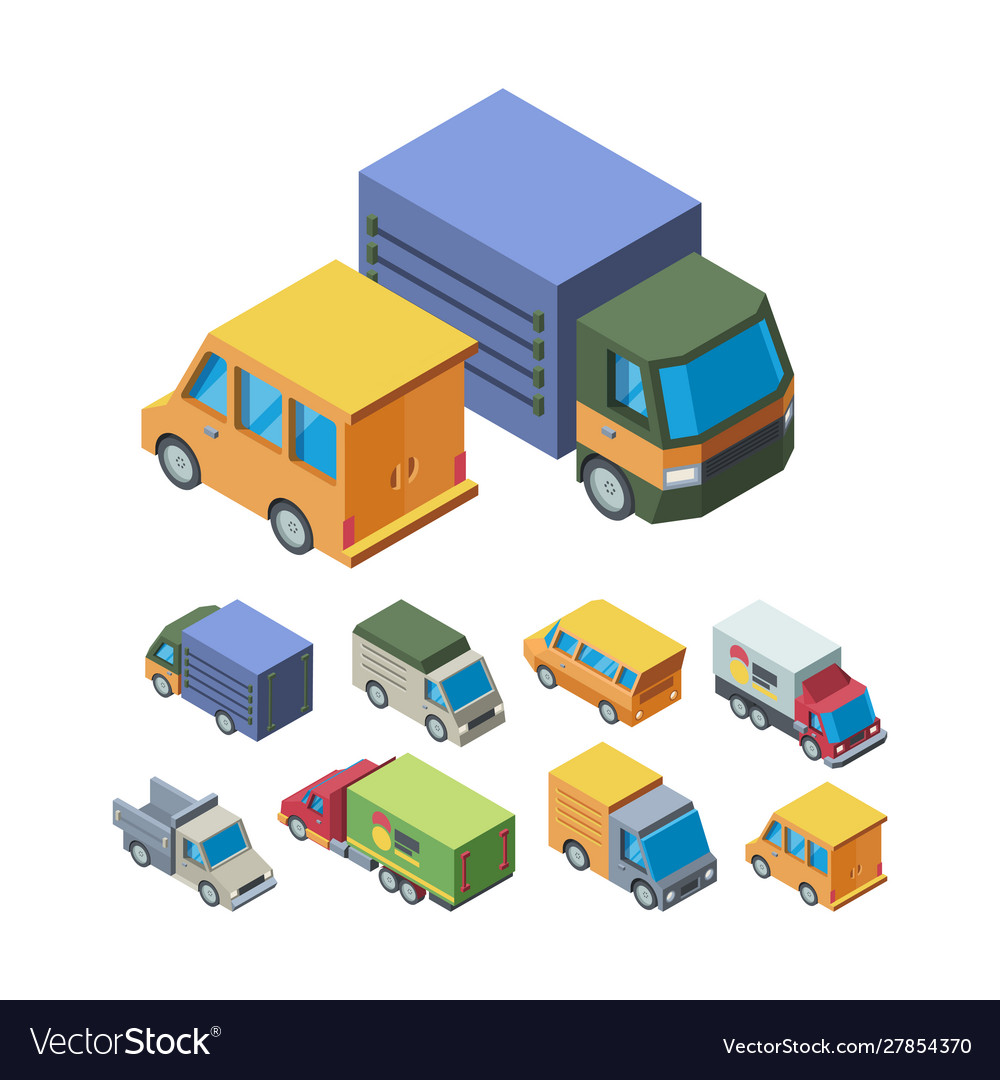 Delivery transport isometric 3d