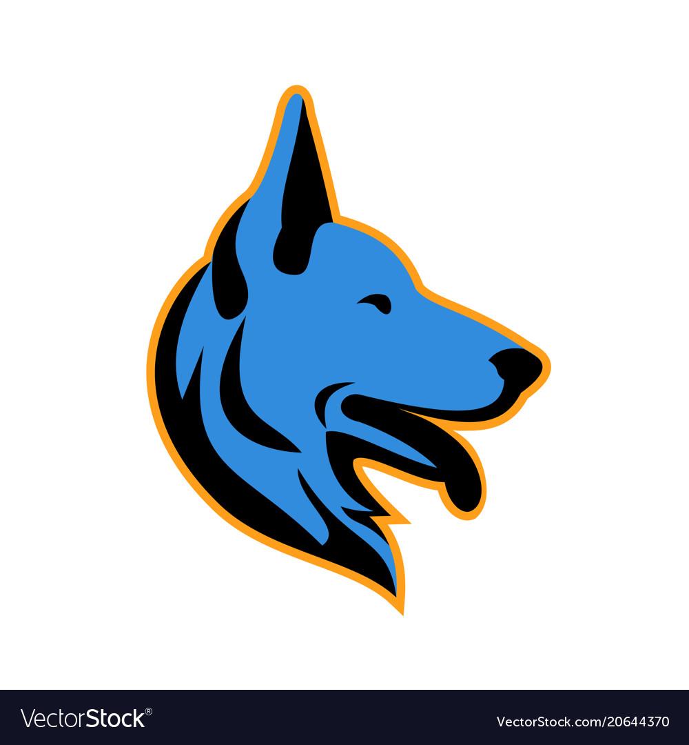 german shepherd dog side mascot royalty free vector image rh vectorstock com german shepherd logo german shepherd logo design