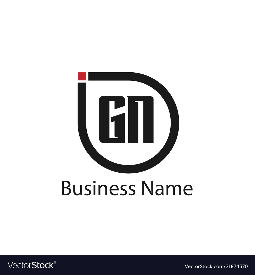 Initial letter gn logo template design royalty free vector initial letter gn logo template design vector image flashek Choice Image