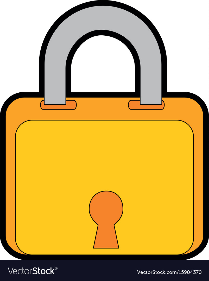 Isolated security padlock vector image