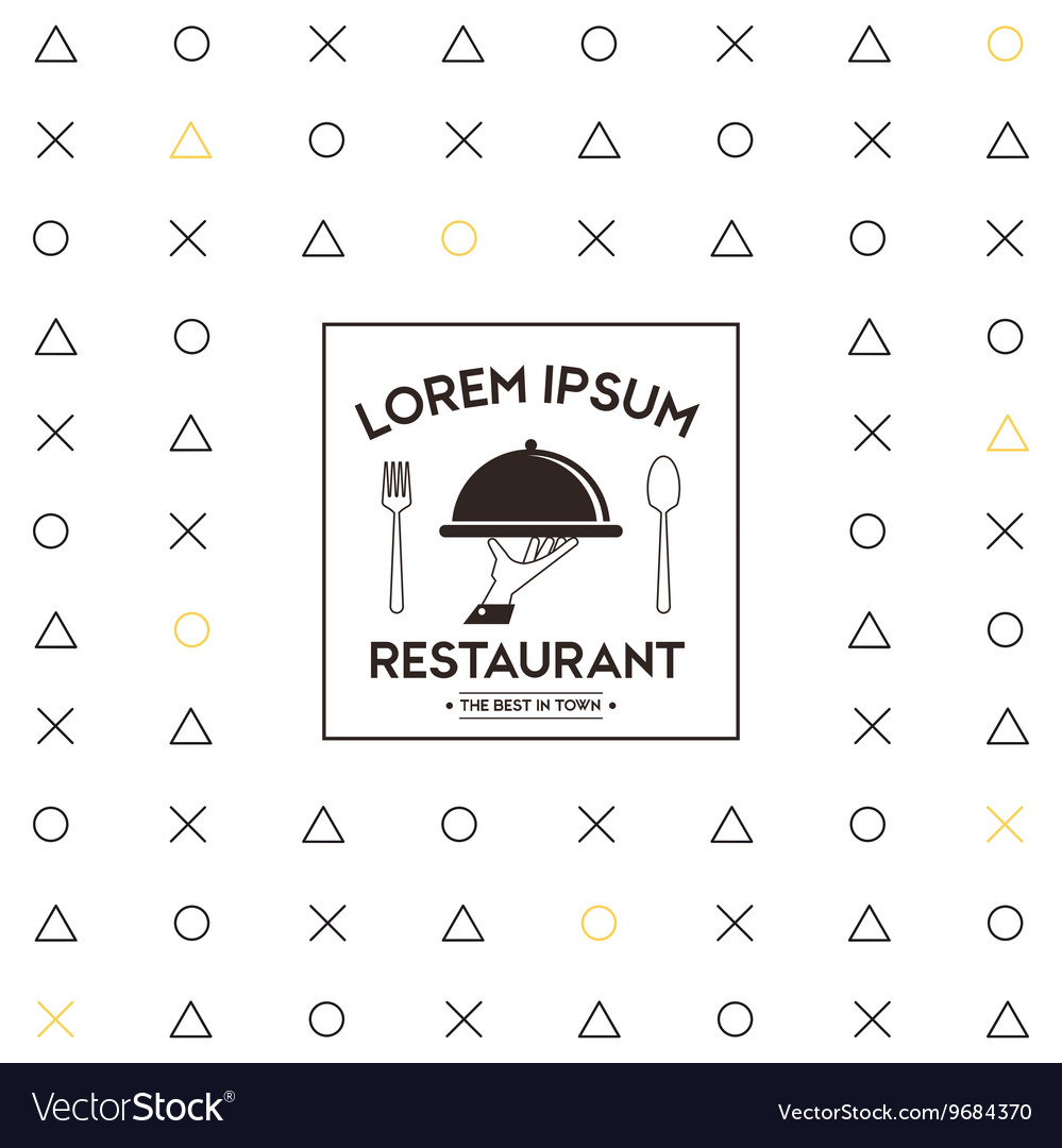 Plate icon Food and Menu design graphic